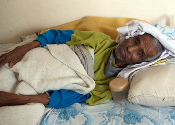 Patient in Ethiopia clinic.