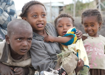 Children in Dukem, Ethiopia.